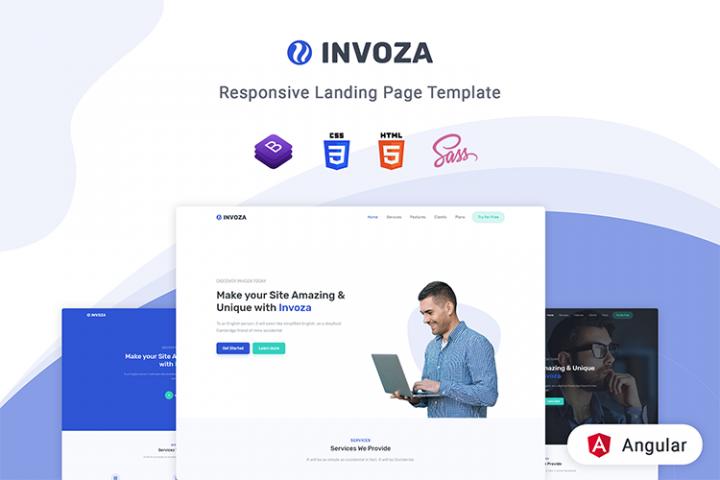 Invoza - Angular 10 Landing Page Template