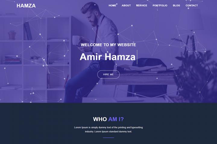 Hamza Personal Portfolio Template