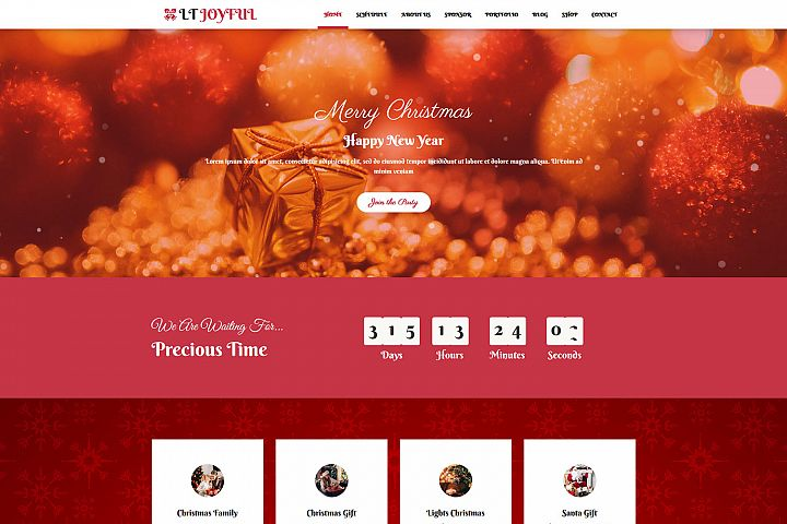 LT Joyful - Premium Responsive WordPress Christmas Theme