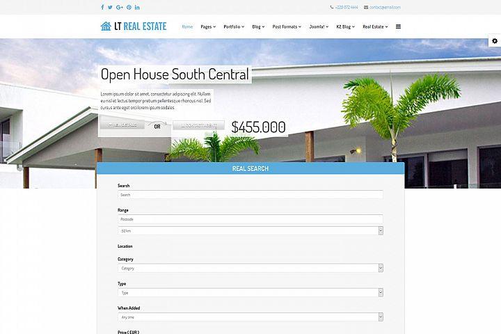 LT Real Estate - Premium Joomla Real Estate template