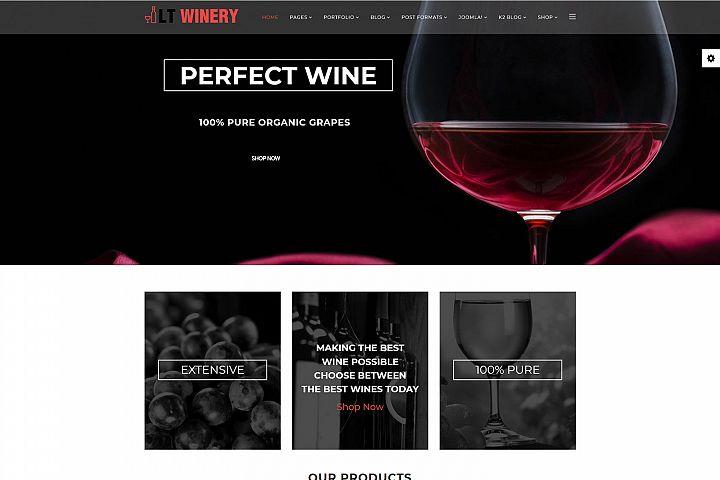 LT Winery - Premium Responsive Joomla Wine Store Template