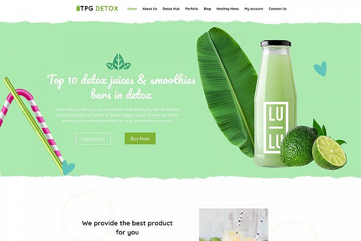 TPG Detox Fresh Juice WordPress theme