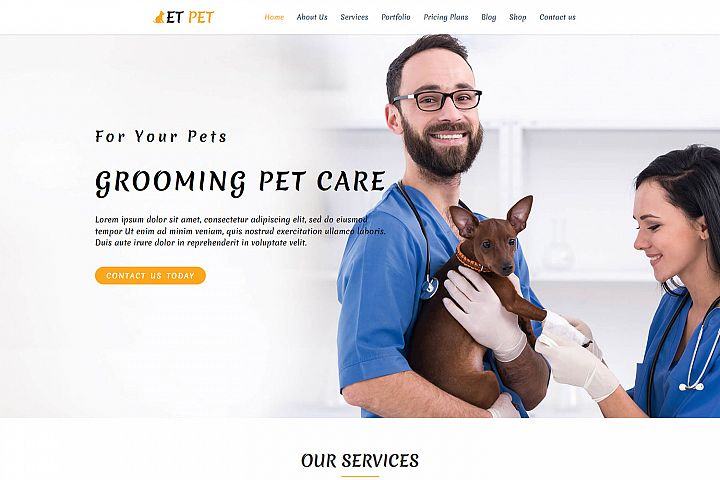 ET Pet Responsive Animal wordpress theme