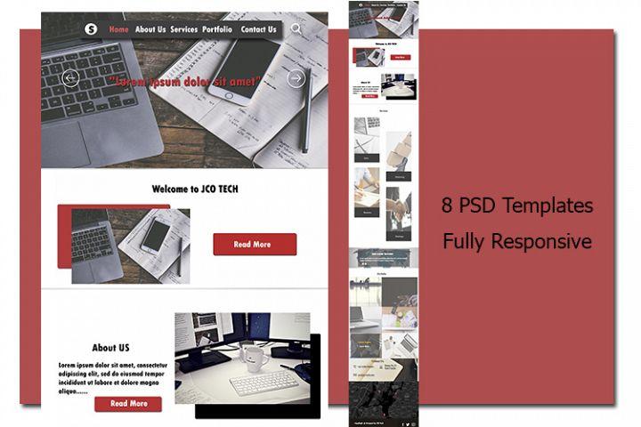 8 PSD Templates
