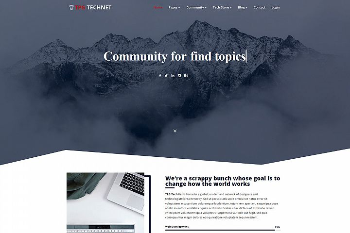 TPG Technet Technology WordPress theme