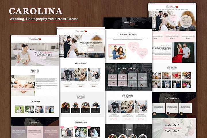 CAROLINA Wedding, Photography WordPress Theme
