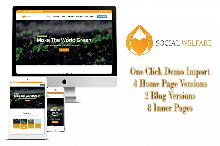 Social Welfare Non Profit Multipurpose Divi Charity Theme