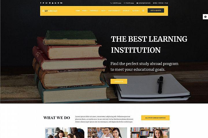 LT Abroad - Premium Private Joomla Education template