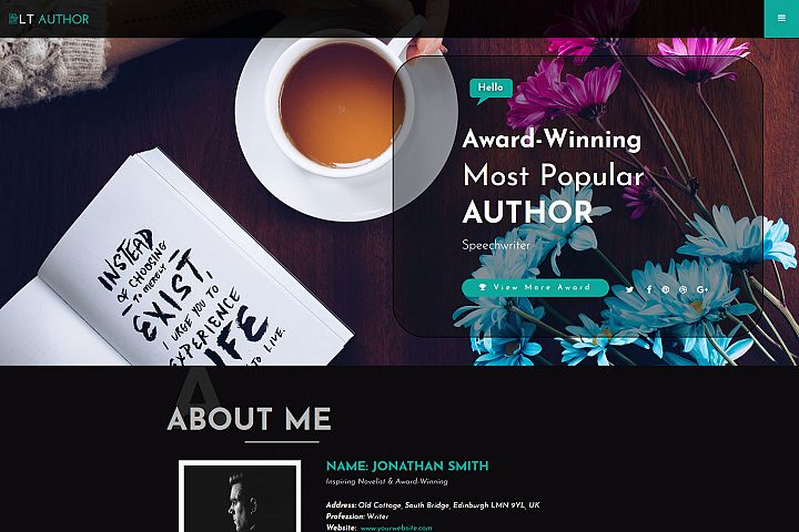LT Author - Premium Responsive Writer Joomla Template