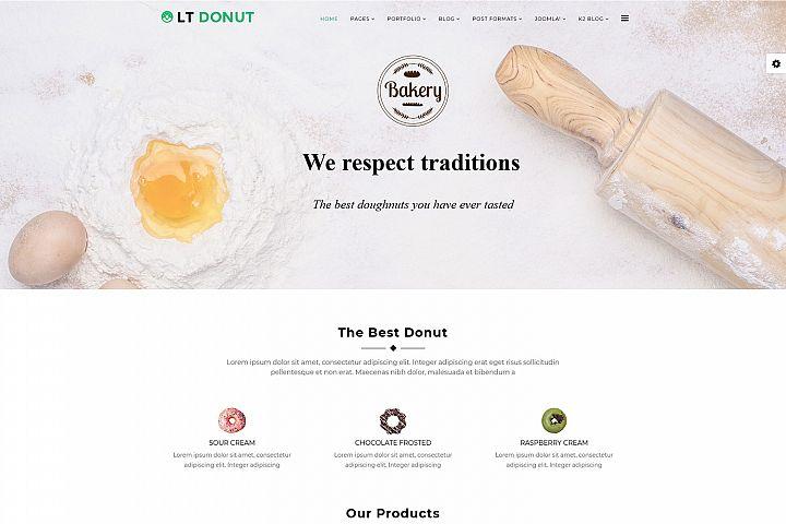 LT Donut - Premium Responsive Joomla Bakery template