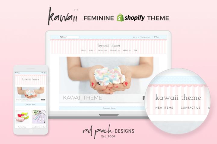 Kawaii Pastel Feminine Responsive Shopify Theme