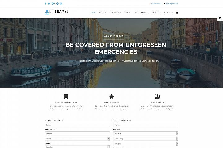 LT Travel - Premium Responsive Joomla Travel template