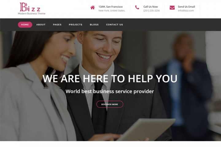Bizz Business & Corporate HTML Template