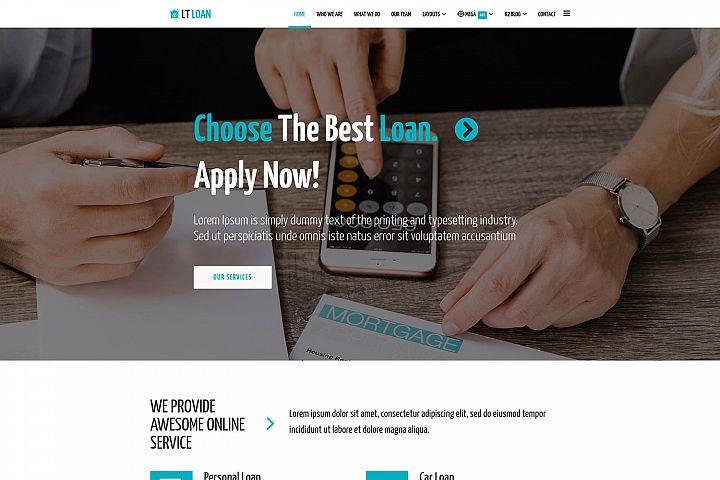 LT Loan - Premium Private Joomla Loan Website Template