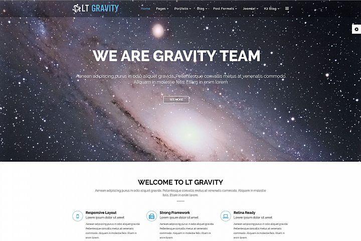 LT Gravity - Premium Responsive Joomla Portfolio Template