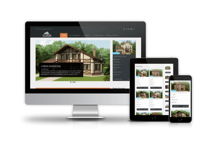 Real Estate November - Free Joomla template