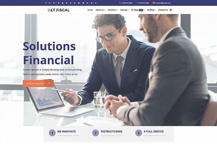 LT Fiscal - Premium Responsive Joomla Finance template