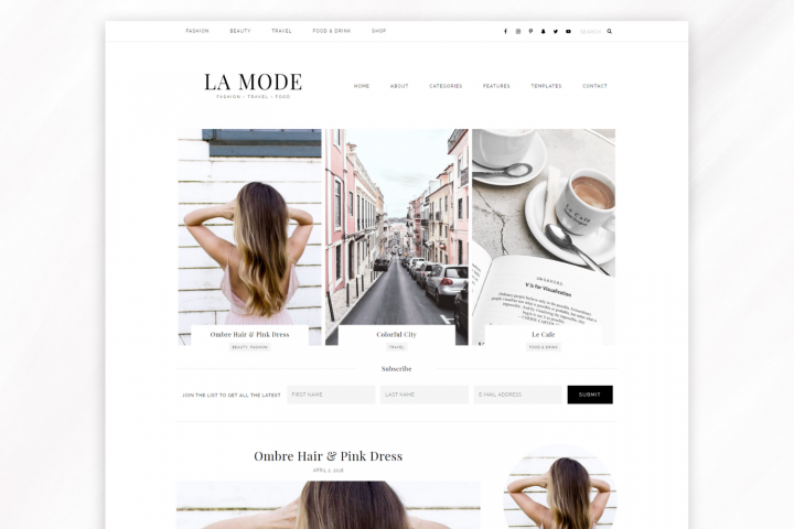 Responsive WordPress Theme for Blogs - La Mode
