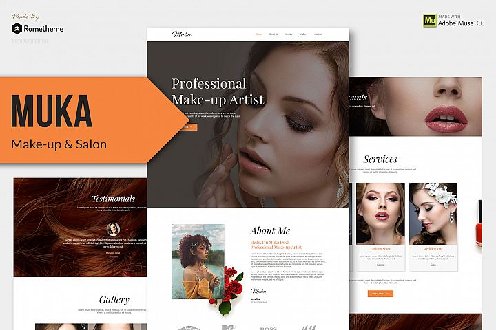 MUKA - Make-up & Salon Muse Theme