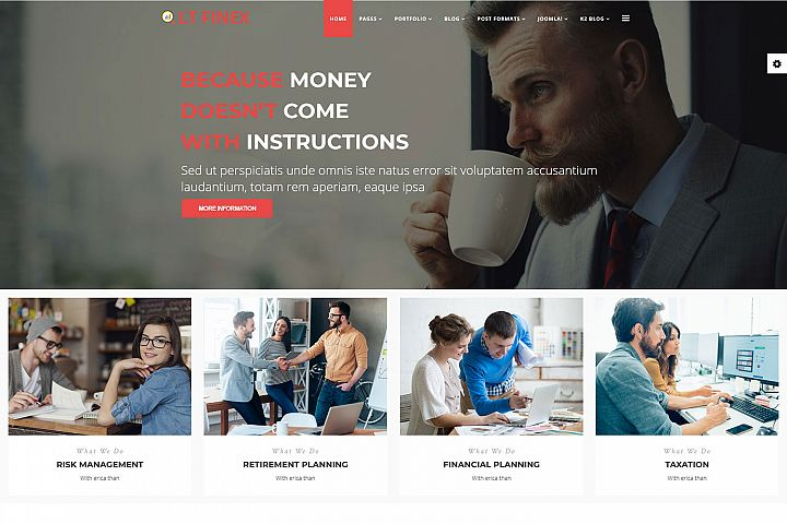 LT Finex - Premium Joomla Financial Template
