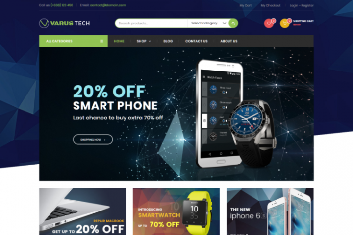 Varus Tech - Electronics Store WooCommerce WordPress Theme