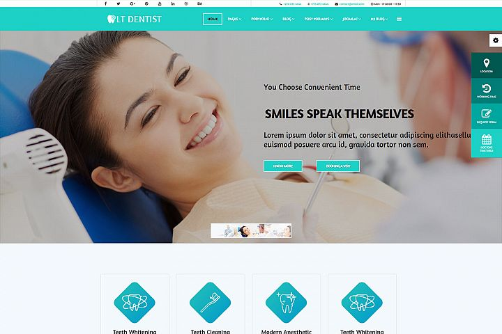 LT Dentist - Premium Private Dentist Joomla Template