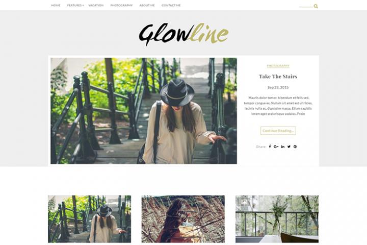 Glowline - WordPress Blogging theme