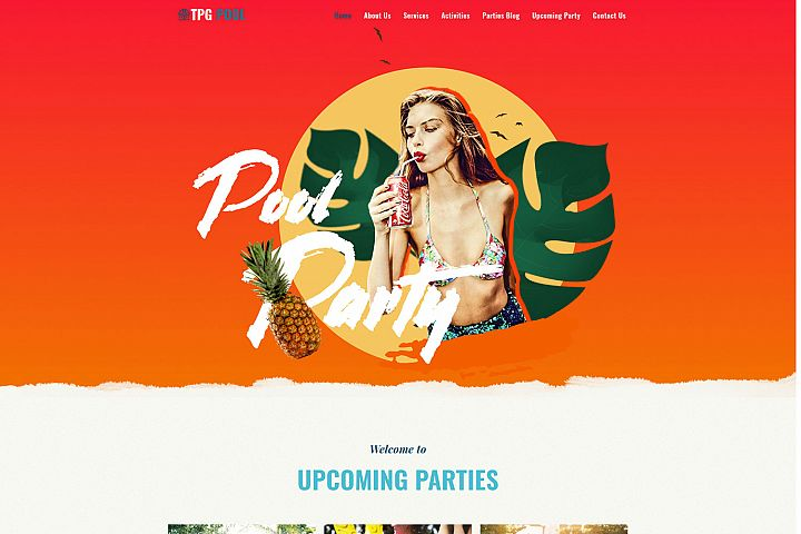 TPG Pool Colorful WordPress Festival Theme