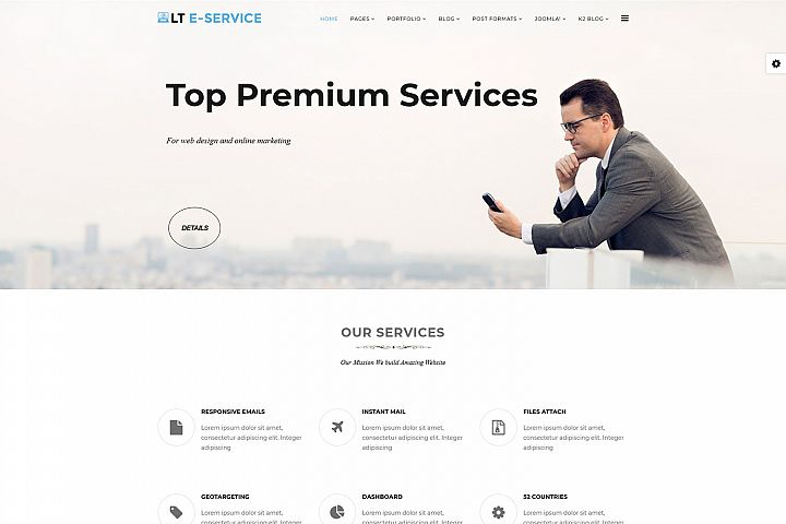 LT eService - Premium Responsive Joomla Service Template