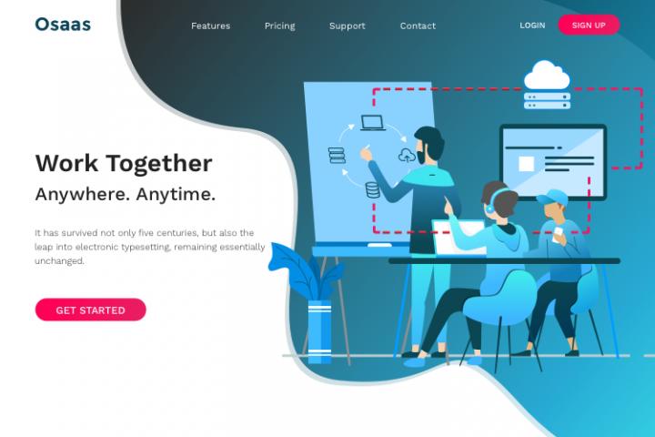 Osaas - Saas, WebApp, Software HTML Template