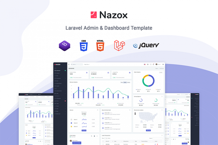 Nazox - Laravel Admin & Dashboard Template