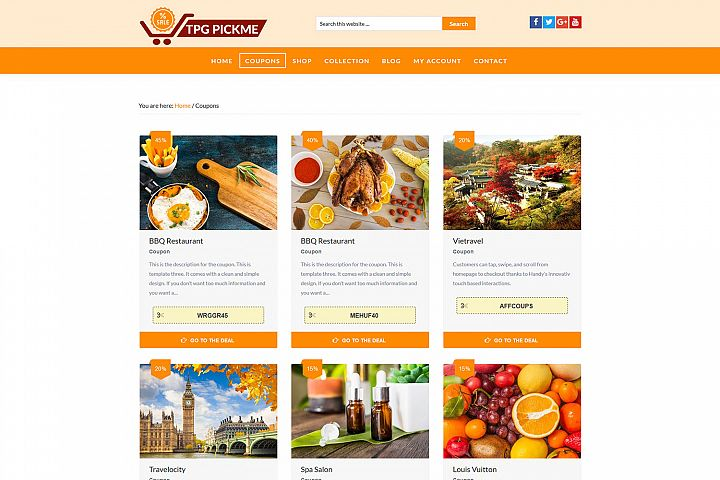TPG Pickme wordpress coupon theme