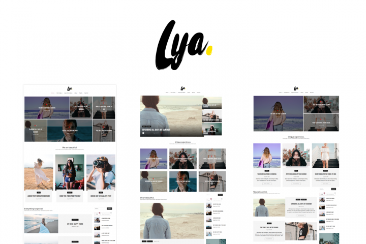 Lya - Minimal WordPress Blog Theme