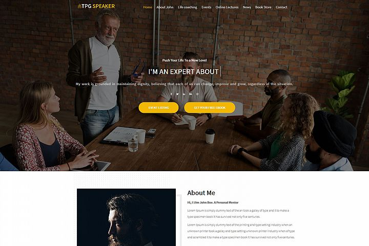 TPG Speaker Event / Conference WordPress theme