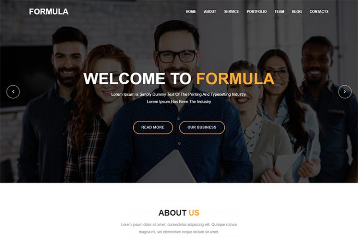 Formula - Material Design Agency Template