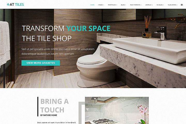 AT Tiles Responsive Construction material website template