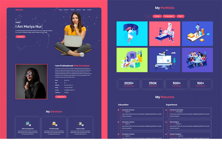 Mariya Personal Portfolio Multipurpose HTML Template