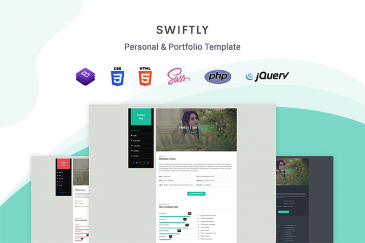 Swiftly - Personal & Portfolio Template