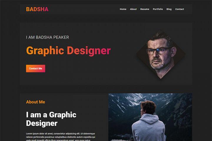 Badsha - Personal Portfolio Template