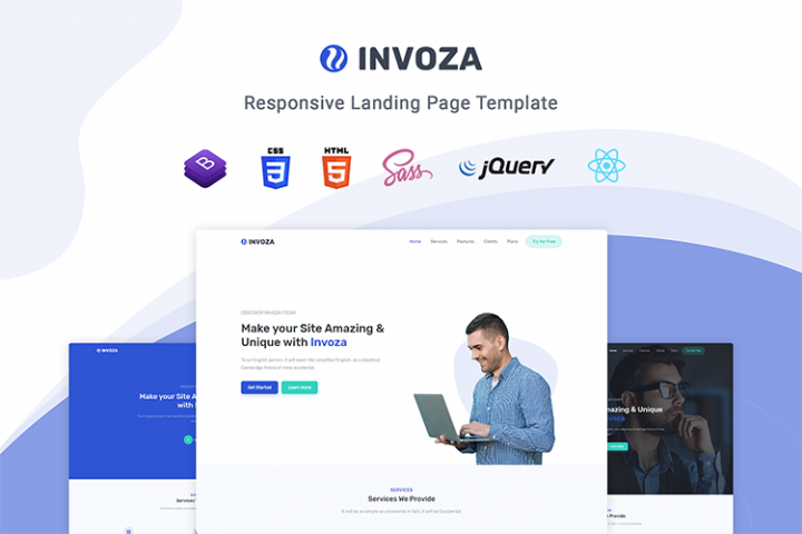 Invoza - Responsive Landing Page Template