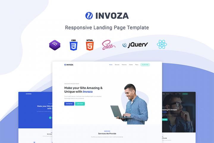 Invoza - Responsive Landing Page Template