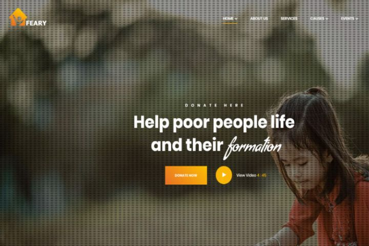 Feary - Fundraising & Charity HTML Template