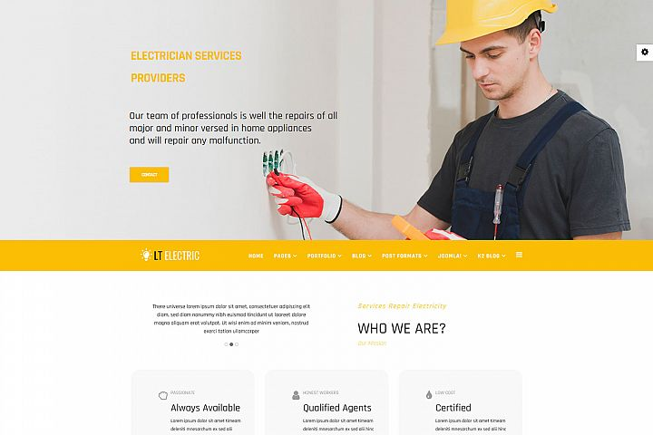 LT Electric - Premium Private Electrical Website Template