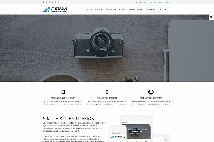 LT Stable - Premium Business Professional Joomla template
