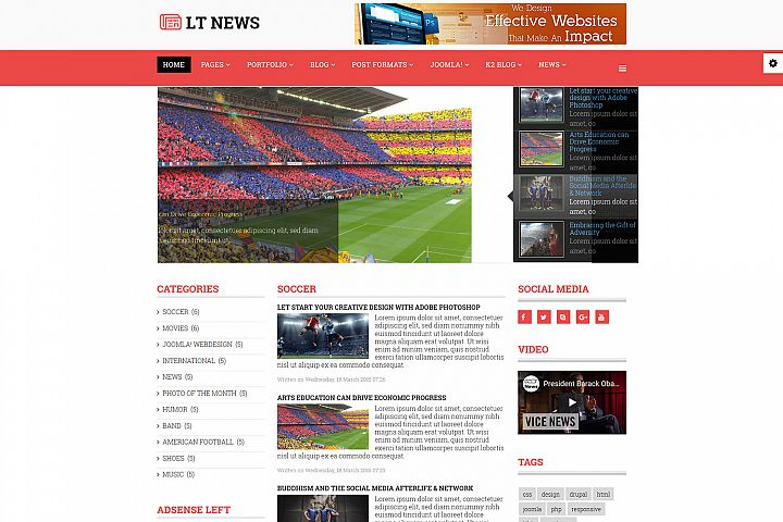 LT News - Premium Responsive Joomla News Template