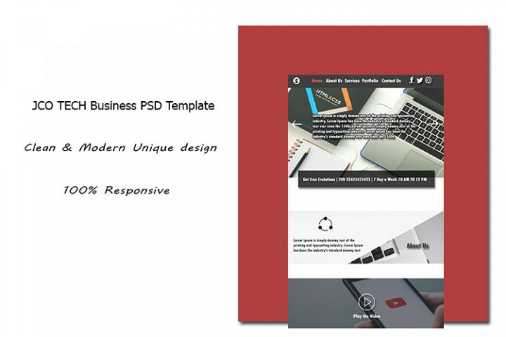 JCO TECH Business PSD Template