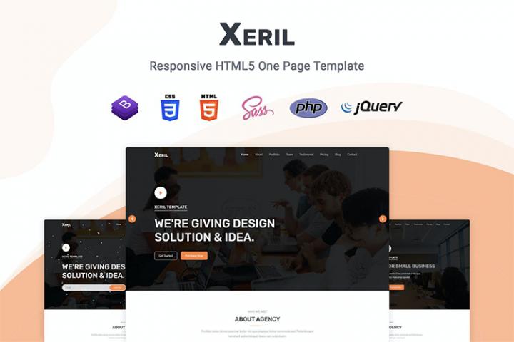Xeril - Responsive HTML5 Termplate