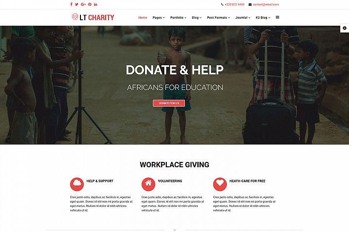LT Charity - Premium Responsive Joomla Charity Template