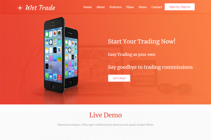 Wst Trade Landing Website Template