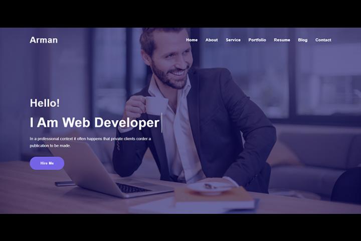 Home Page Header Design Website Template